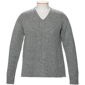 Alchemy Equipment 3GG Lambswool Tweed Relaxed Pullover Col en V Femme, grey tweed